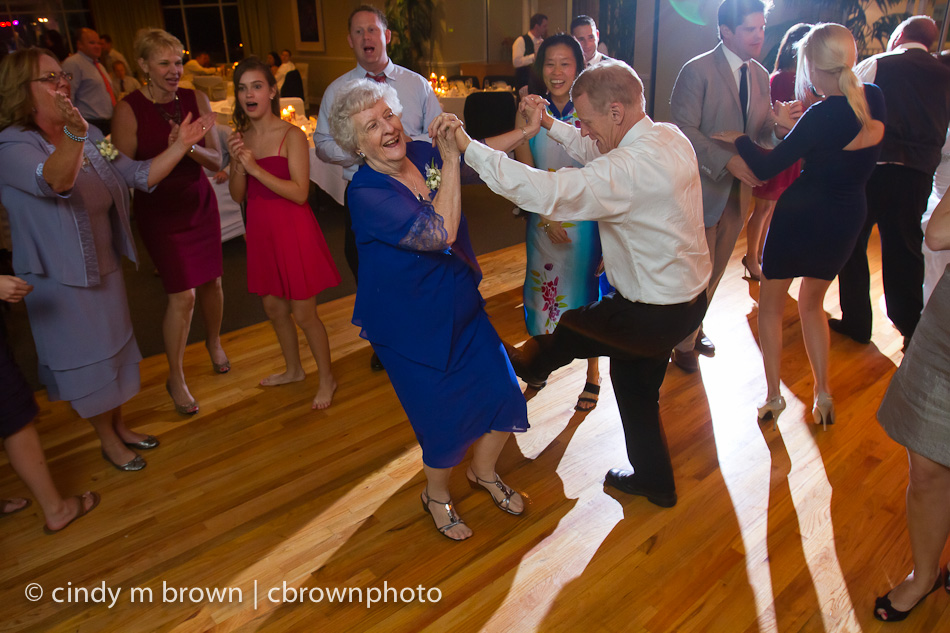 Aunt Margaret dances with Scott.