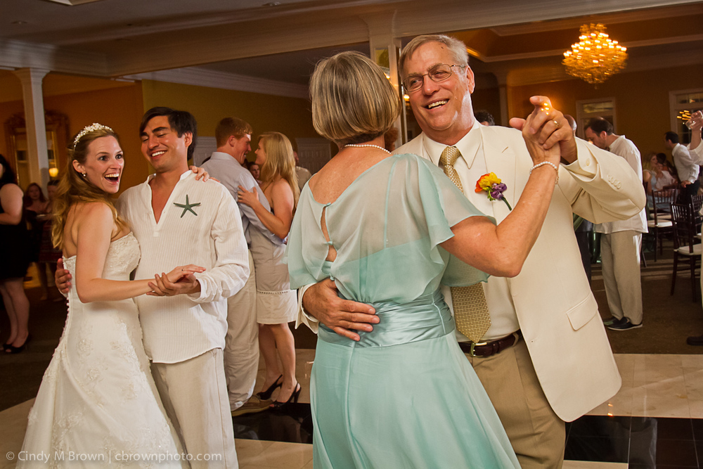 Mom and Dad, Bride and Groom dancing