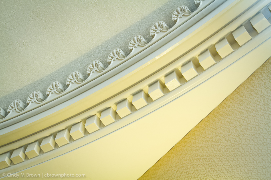 Crown molding at Atlanta wedding venue