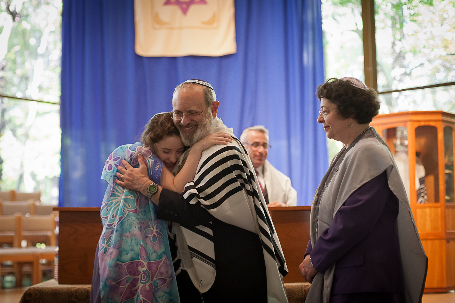 Hug at Bat Mitzvah