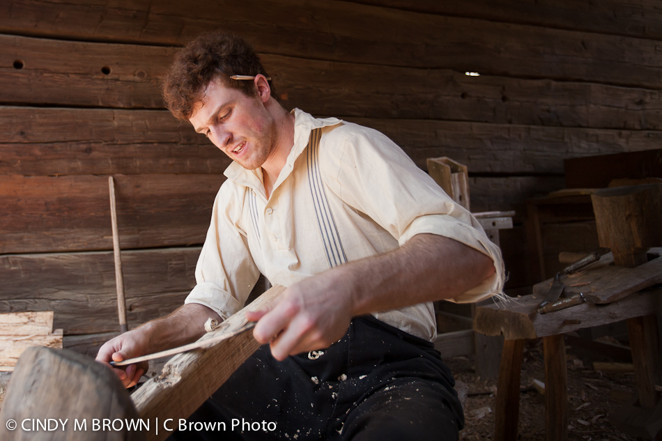 Wood Worker at History Center