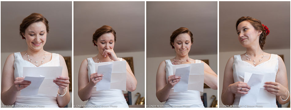 Atlanta photojournalist documents bride reading letter