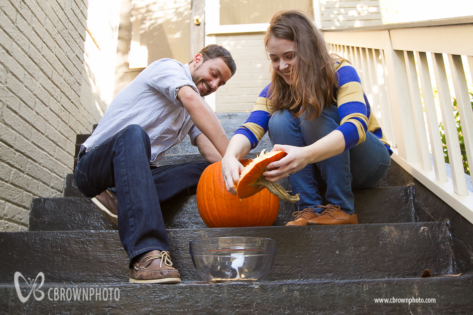 Halloween Engagement Photographs