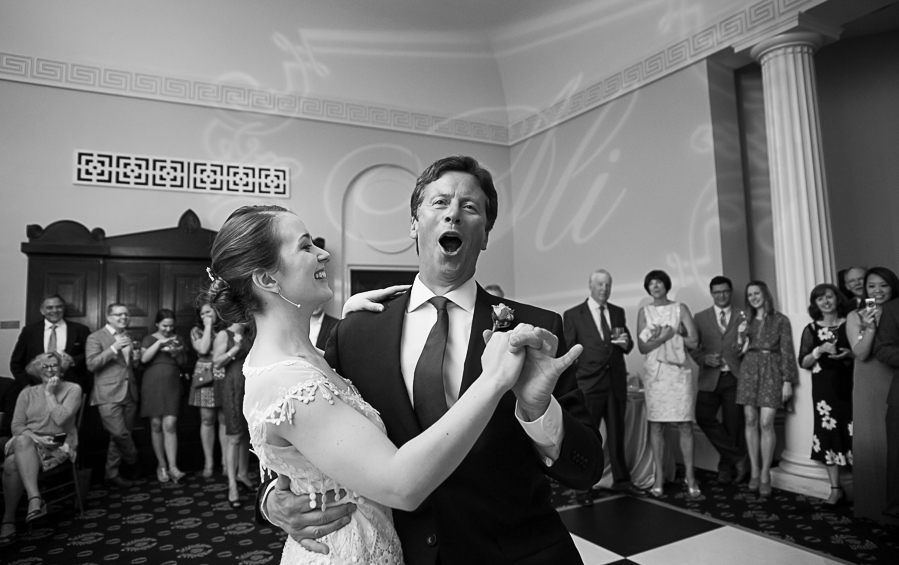 Bride dancing with Dad At Academy of Medicine