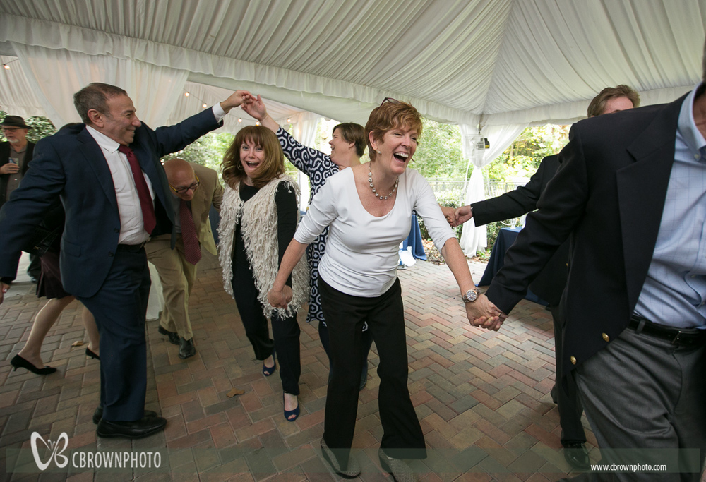 Friends and family join in  a Traditional Jewish folk dance. Atlanta Wedding Photographers, C Brown Photo