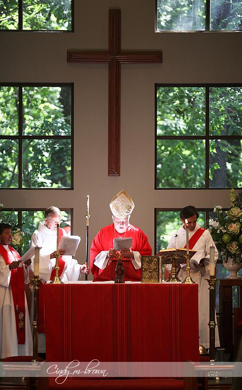 Episcopal Biship at Ordination Service