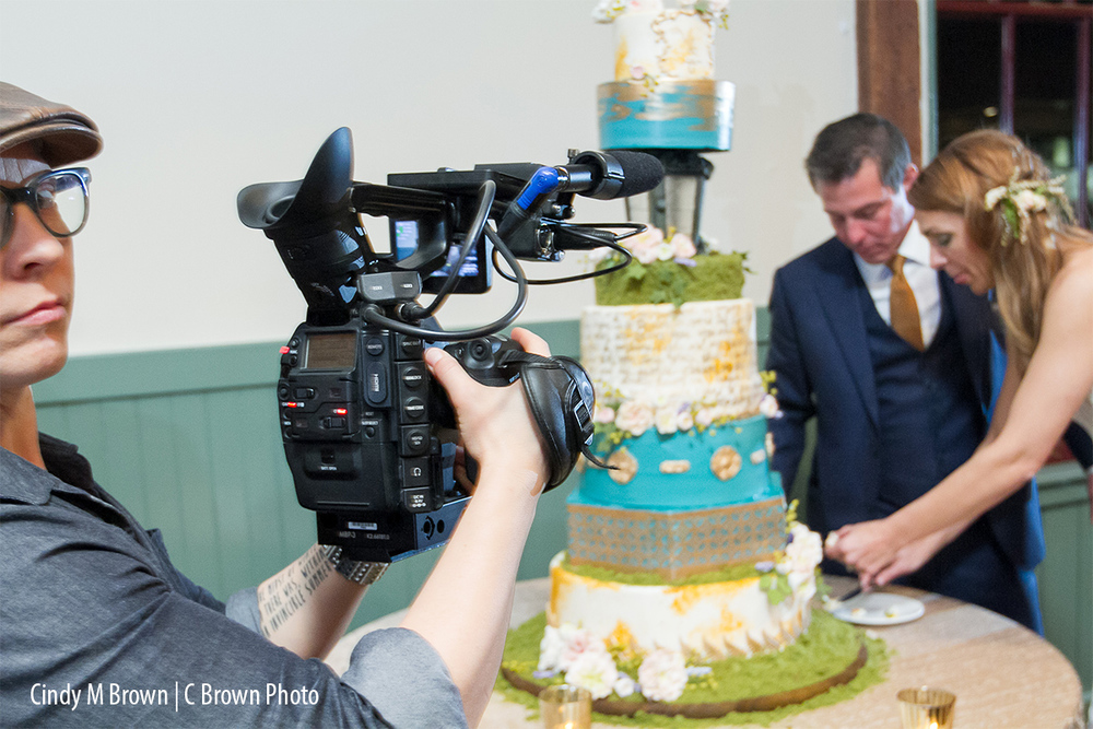 A film crew followed Tim and Vanessa from the ceremony to the reception.