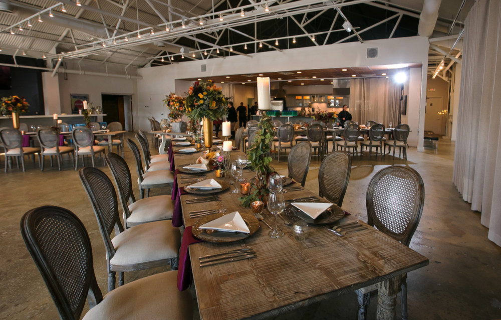 the space can be configured for large or small parties.