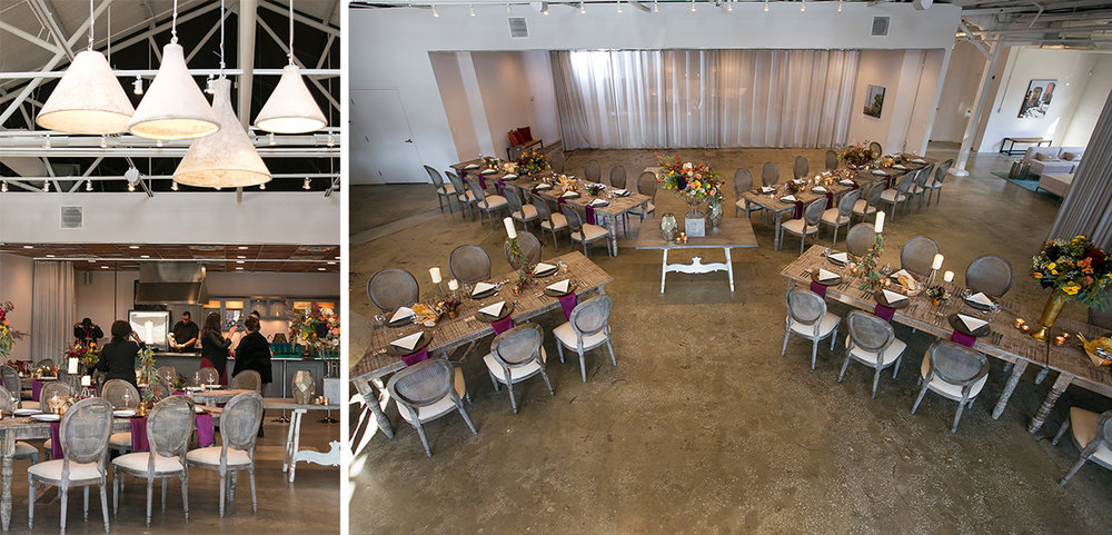 event designers can give the space a variety of looks.