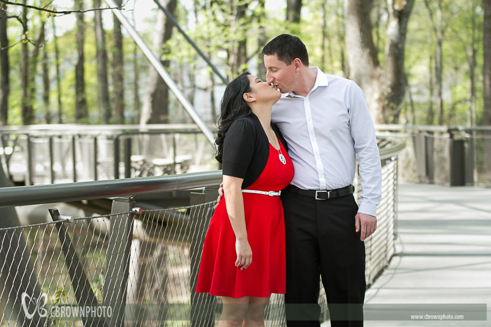 Irene and Travis at the Atlanta Botanical Gardens