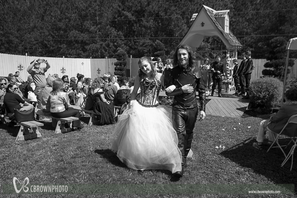 Holly and Tyler wedding at the Georgia Renaissance Fair