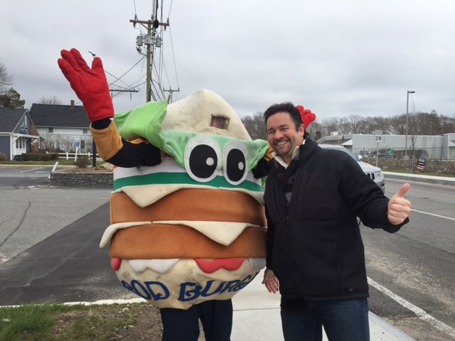 The CC Burger & Fries Guy and me in East Falmouth!