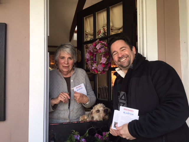 Letitia & Chloe greeted us along the East Falmouth campaign trail!