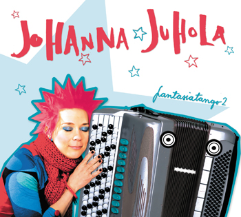 Download print quality CD cover photo  HERE .   JOHANNA JUHOLA: Fantasiatango 2   JJCD002, 2012  Listen to the album on  SPOTIFY .  Watch the music video Olavi  HERE , Bipolär Tango  HERE  and Mummot  HERE .