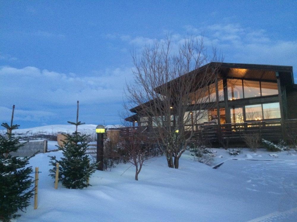 iceland lodge winter