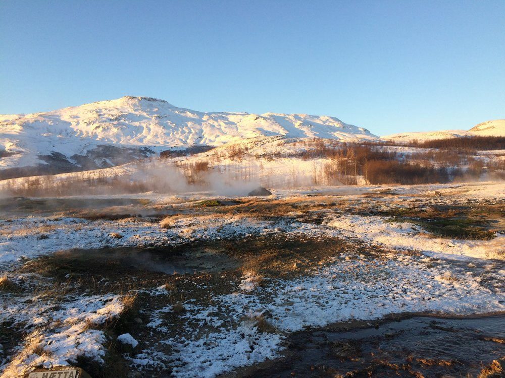geyser geysir iceland golden circle