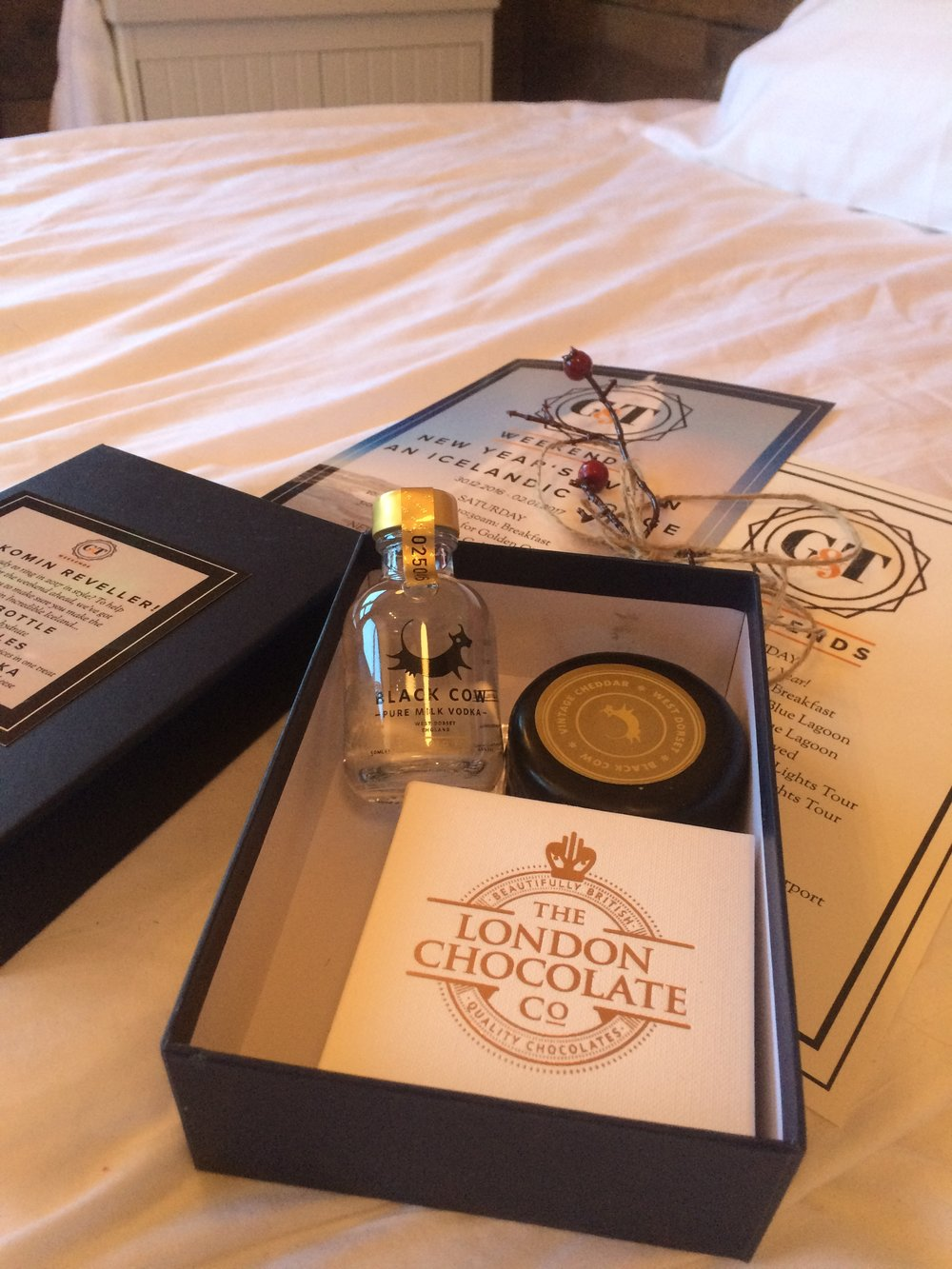 black cow vodka the london chocolate company gift pack