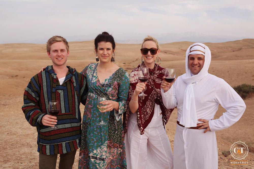 morocco dinner desert