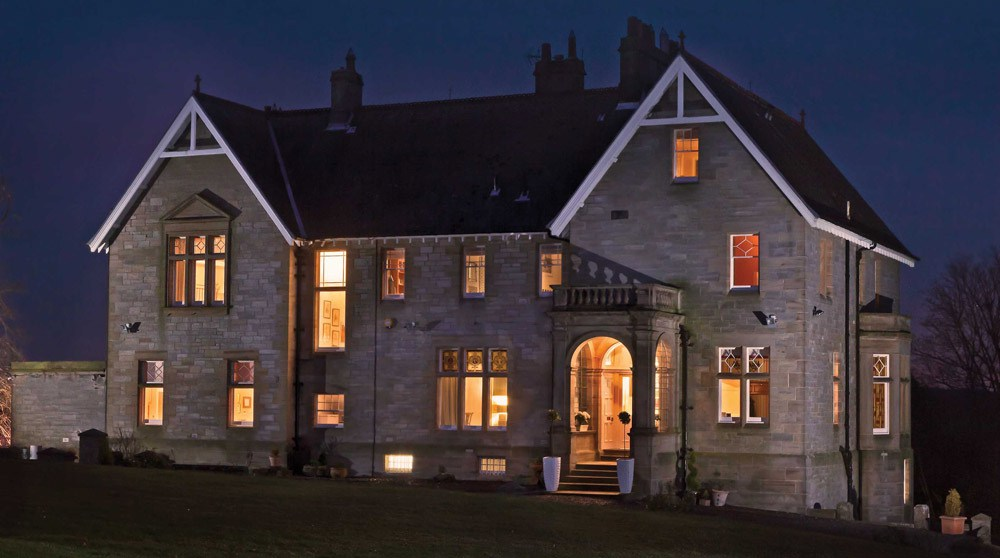 Scotland Manor House Night