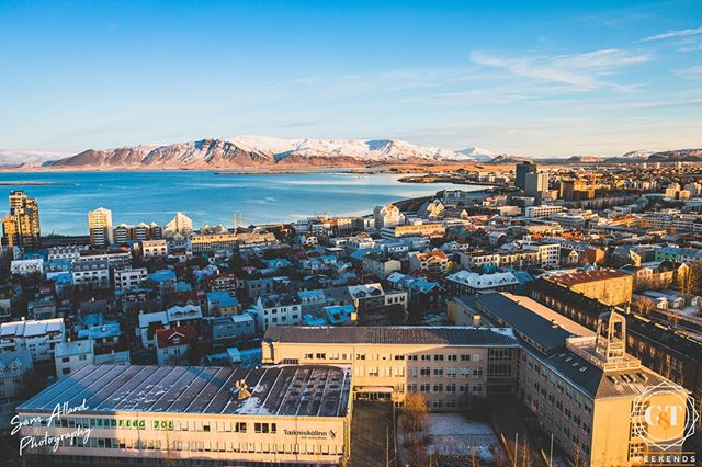 Reykjavik, Iceland views, can't beat em! Check out this cool city as we drive in from the airport on our New Years in an Icelandic Lodge trip • 29 Dec 2018 to 1 Jan 2019 • 4 x instalments of £266 pp OR • £1064 pp • Includes all alcohol & 7 chef-cooked meals  Itinerary details & bookings via the site revellers! #gtwknds #newyearsiniceland . . . . #thisisiceland #iceland #newyears #hotsprings #snowyscene #icelandnewyears #reykjavik #icelandtrip #newyears #newyearholiday #icelandtravel #visiticeland #icelandsnow #exploremore #traveldeeper #travellers #cntraveler #bbctravel #fodorsonthego #icelandic #inspiredbyiceland #everydayiceland #exploreiceland #wheniniceland #igersiceland #traveliceland #reykjavikloves