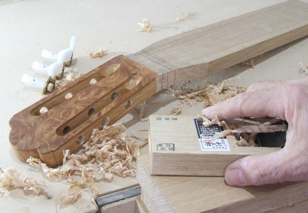 making the guitar neck and heel