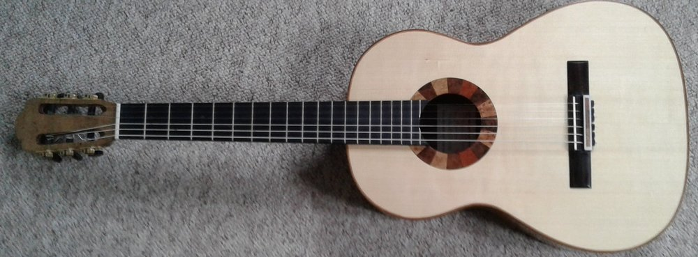 Lattice concert guitar ('Pericle' series) by roy courtanll