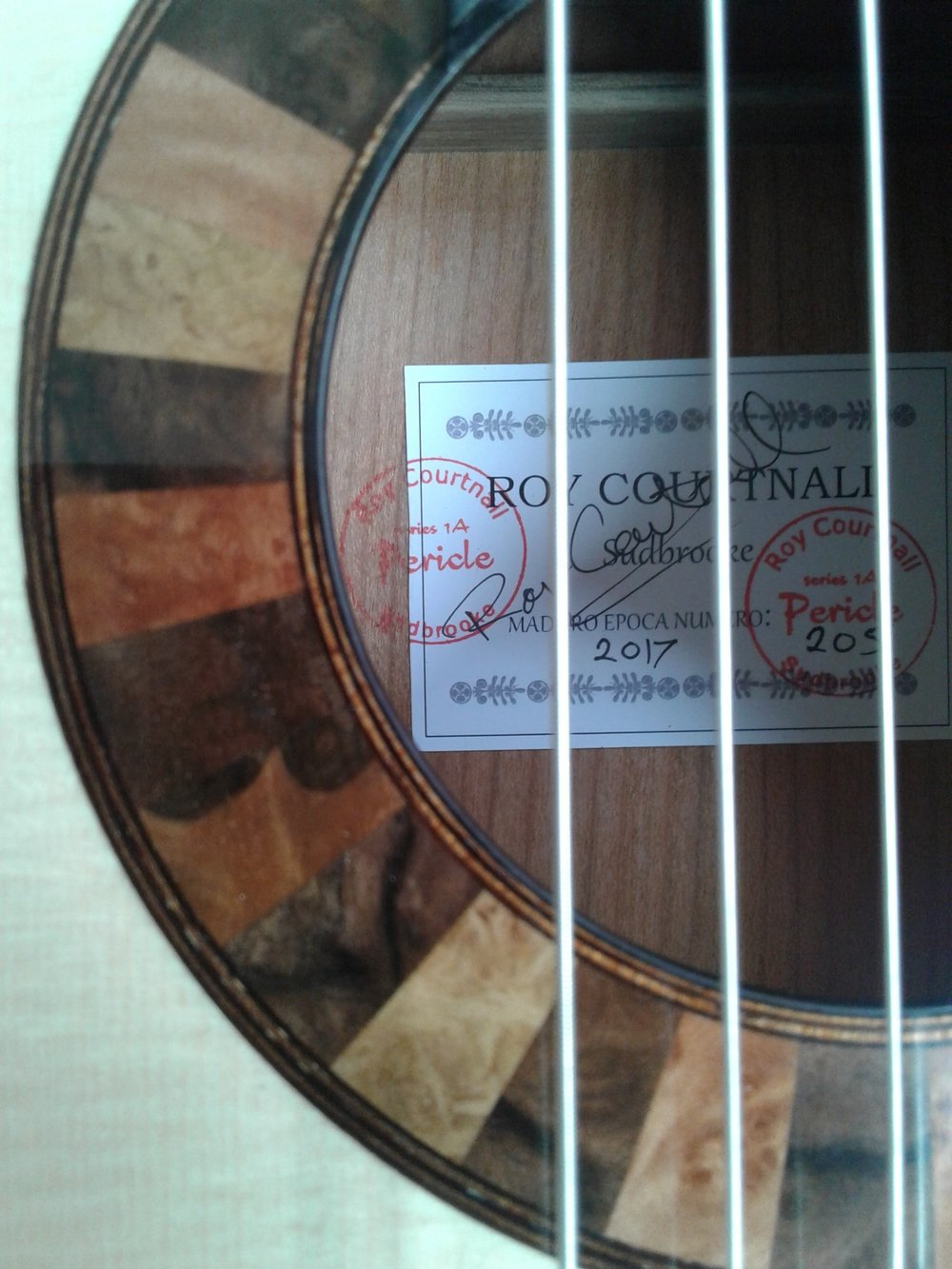 Roy Courtnall guitar label
