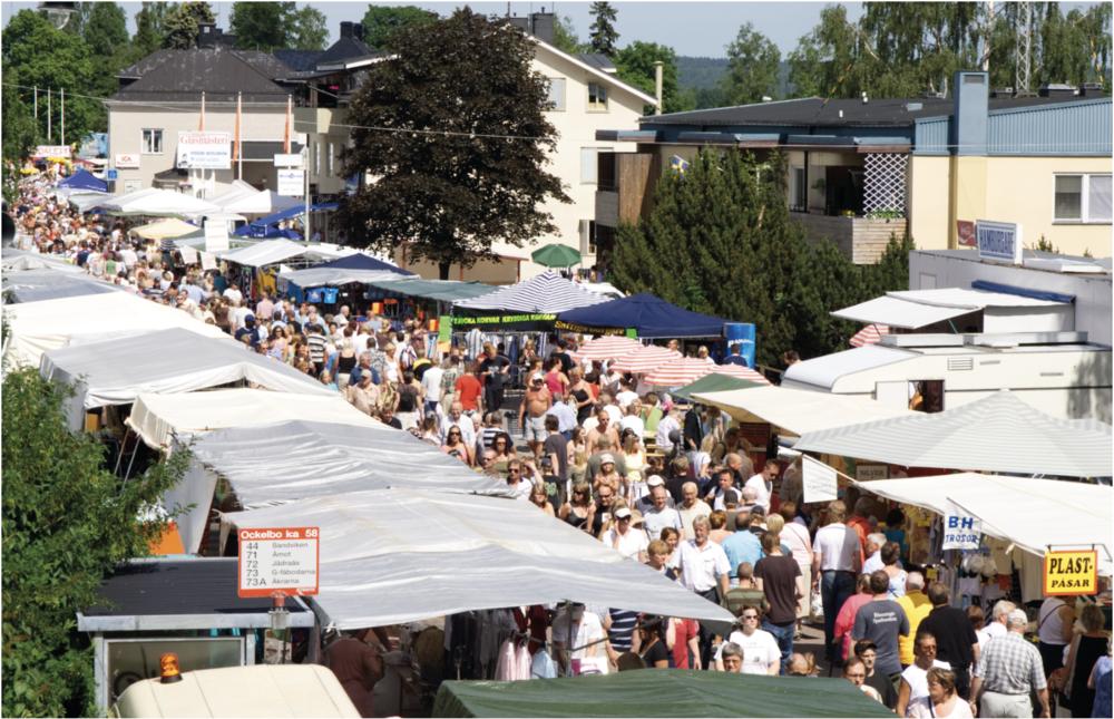 Ockelbo marknad en varm sommardag 2006. FOTO: Henrik Westberg, KUXAGRUPPEN AB