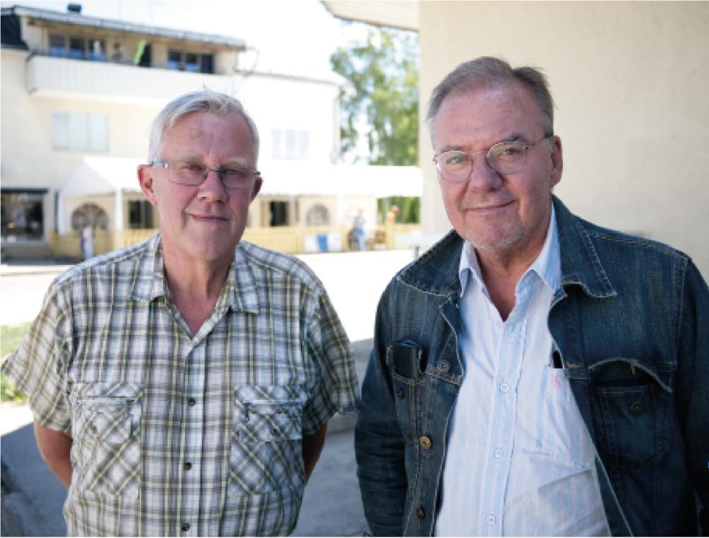 Ulf Andersson, ordförande i Ockelbo marknads ekonomiska förening och Krister Ederth, marknadsgeneral. FOTO: Henrik Westberg, KUXAGRUPPEN AB
