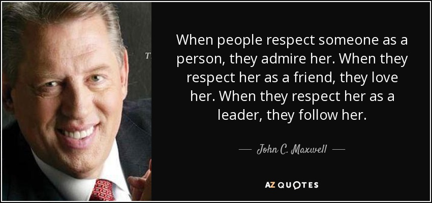 John C Maxwell Law of Respect