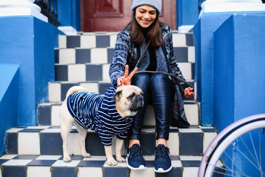 uk-london-nottinghill-stlukesmews-pug-puglife-dog-fashion-streetstyle-fringe-bag-nike-stripes-maxbone-puppy-hound-chic-colours-mews-swag-pugswag-arithepug-MM-honeyidressedthepug-beanie-jigsaw-hoody
