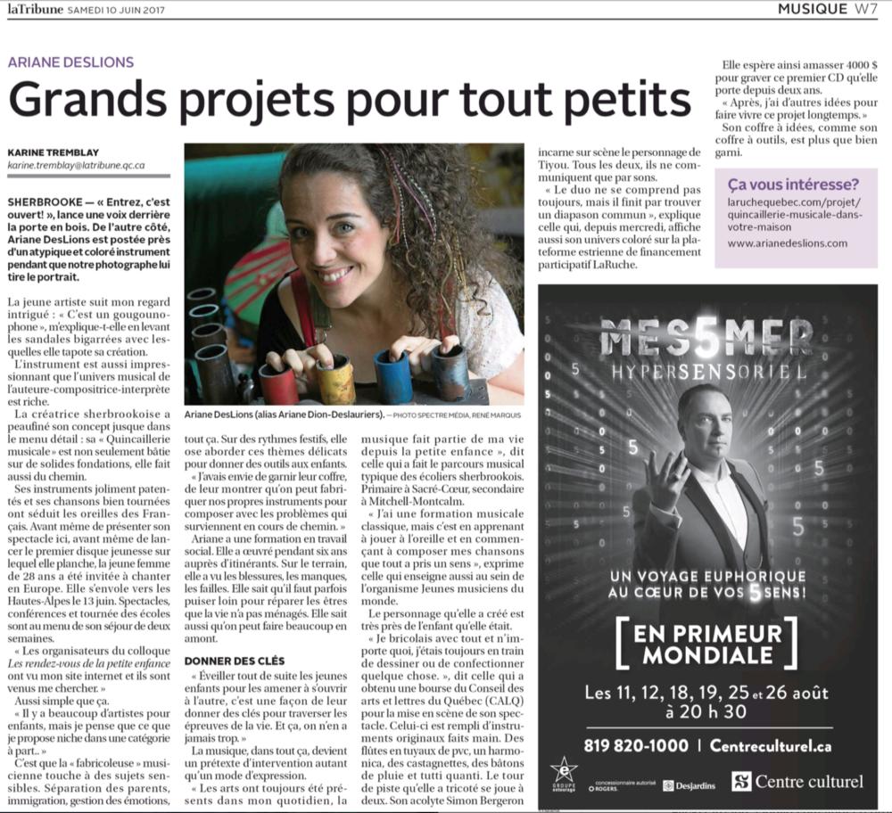 La Tribune - Les Arts - samedi 10 juin 2017