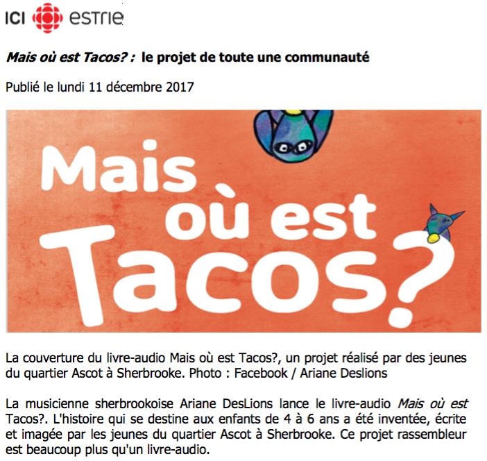 Lire la suite de l'article : par Radio-Canada Estrie, Ici Estrie, publié le 11 décembre 2017