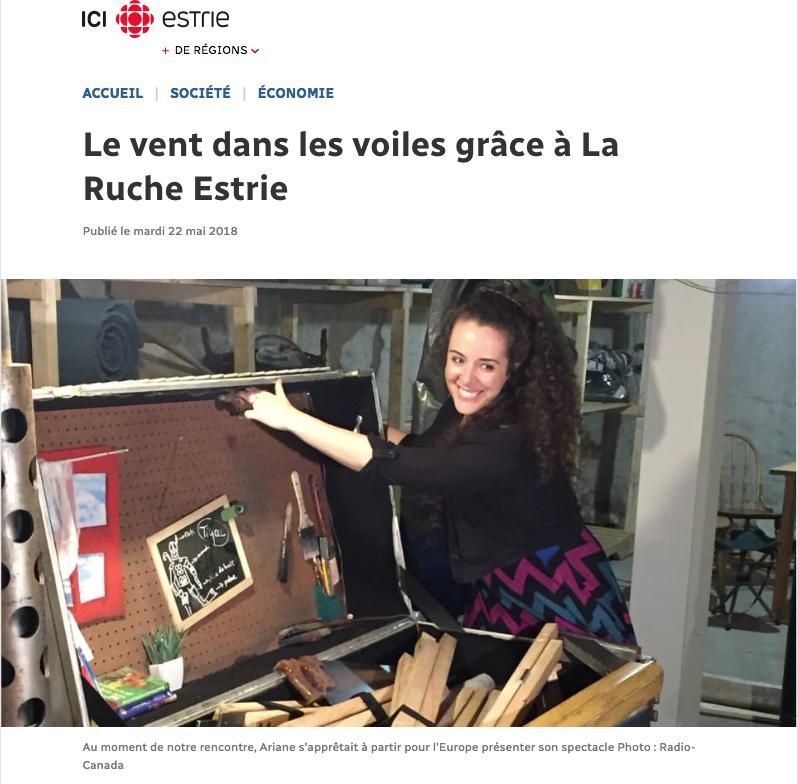 Lire la suite de l'article - Mylène Grenier, Radio-Canada Estrie 22 mai 2018