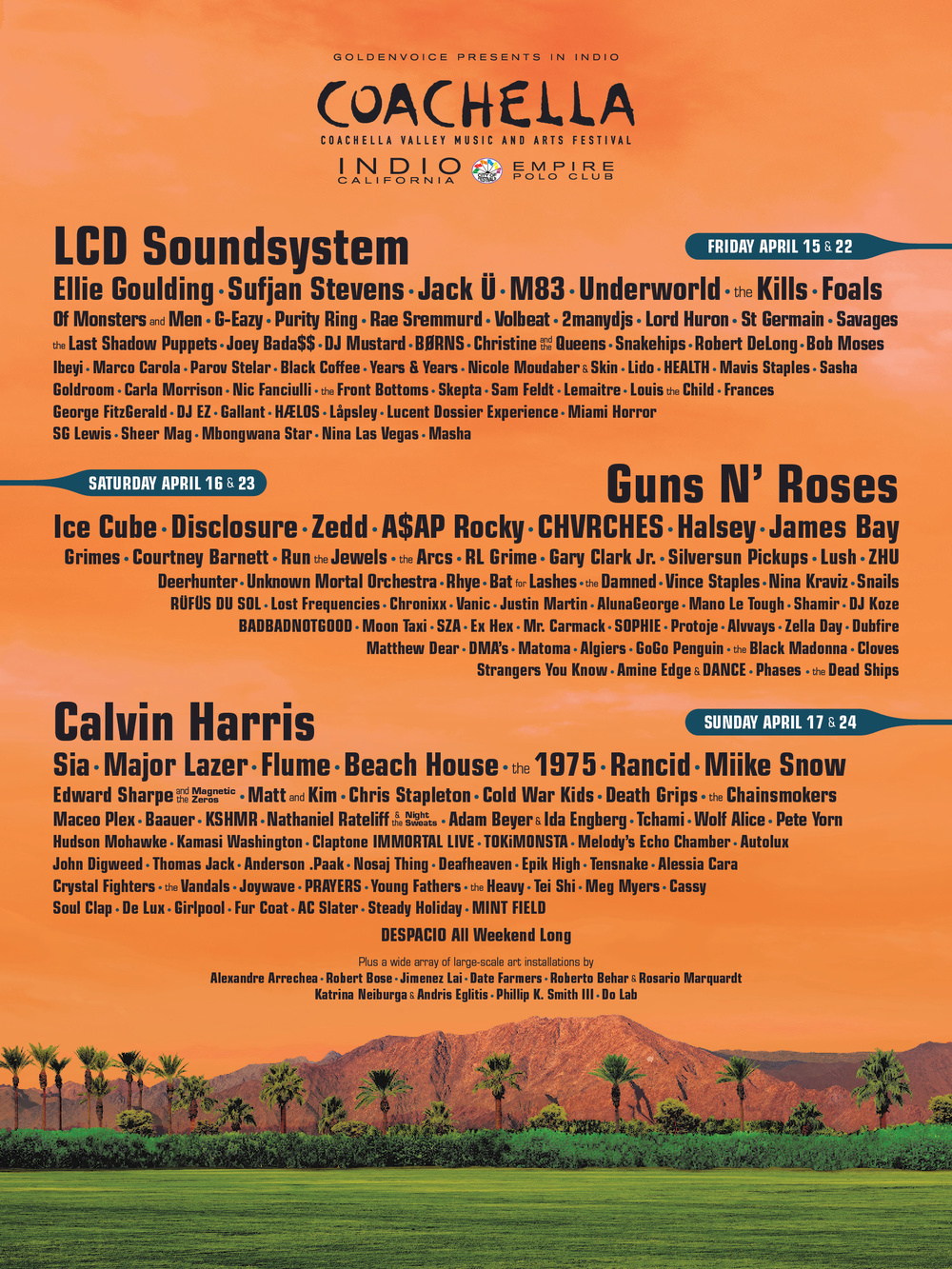 Coachella Valley Music and Arts Festival 2016 Lineup
