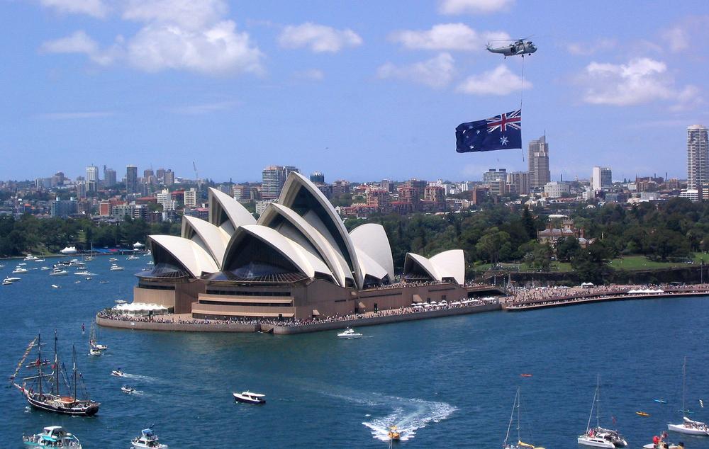 Sydney Australia's Opera House. Image courtesy of  https://en.wikipedia.org/wiki/Australia_Day