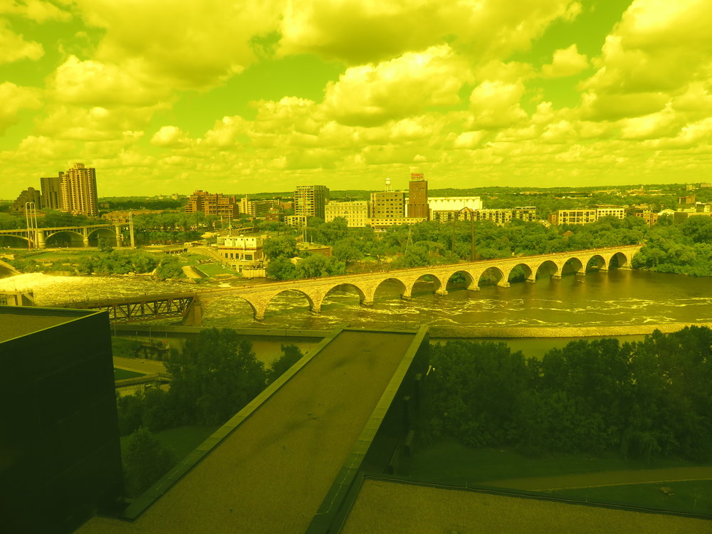 "View from the Guthrie Theater ""Yellow Room"""