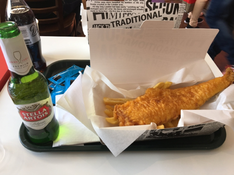 Belgium beer and London fish. Fantastic combo