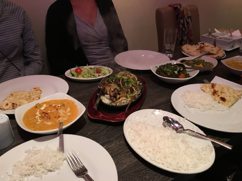 Copious amounts of Indian food