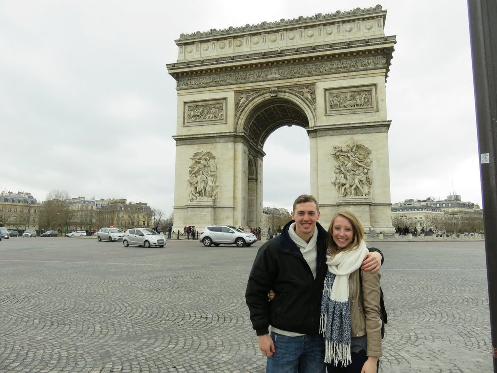 Elizabeth and I on our first trip to Paris