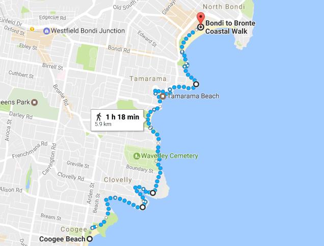 Coogee Beach to Bondi Beach coastal walk