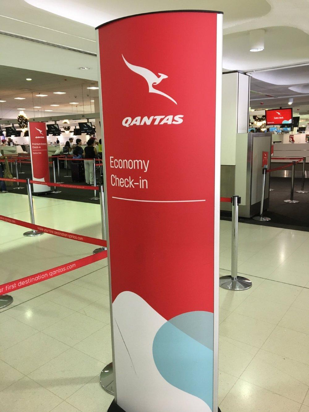 Qantas Economy check-in