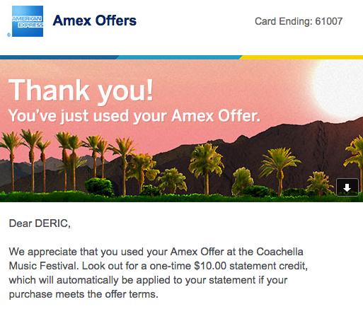 American Express Coachella sponsorship