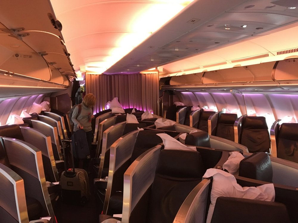 REDEEM SKYMILES FOR A TICKET IN VIRGIN ATLANTIC'S UPPER CLASS