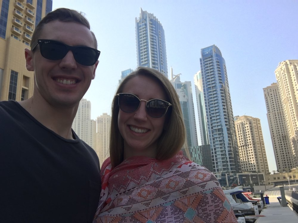 the only other photo i have from our first day in dubai