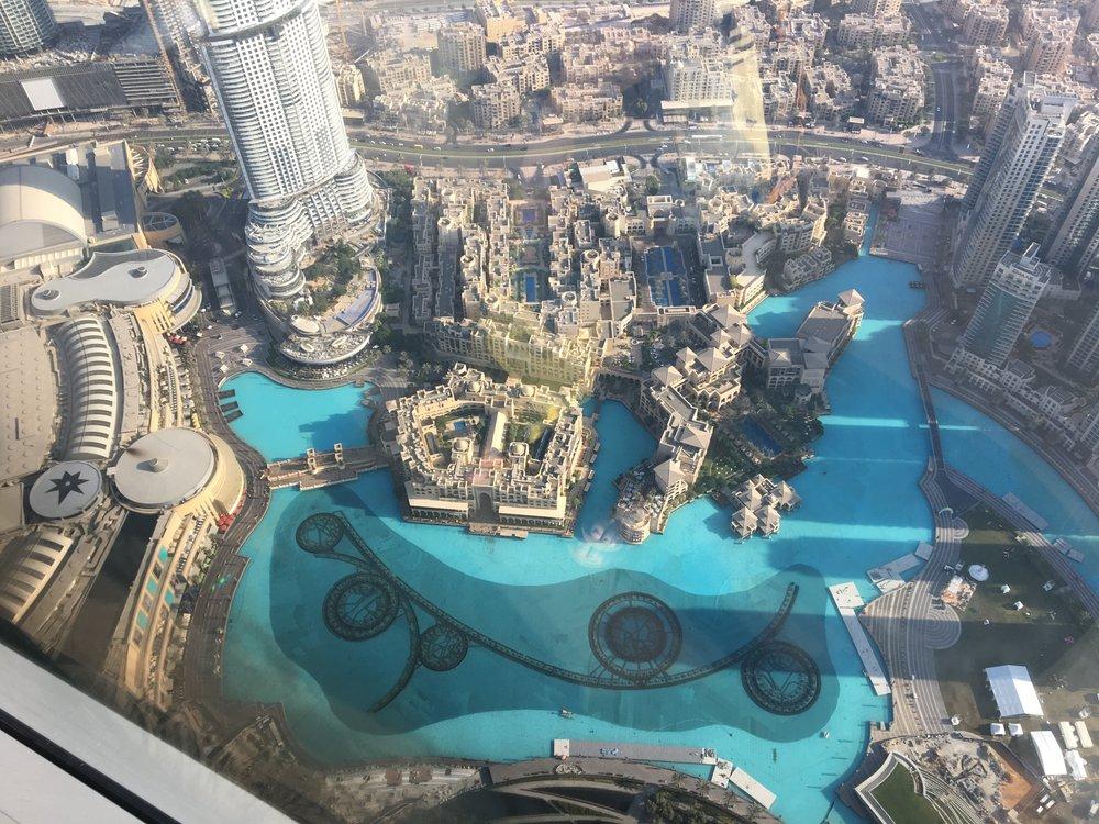 at the top, burj khalifa