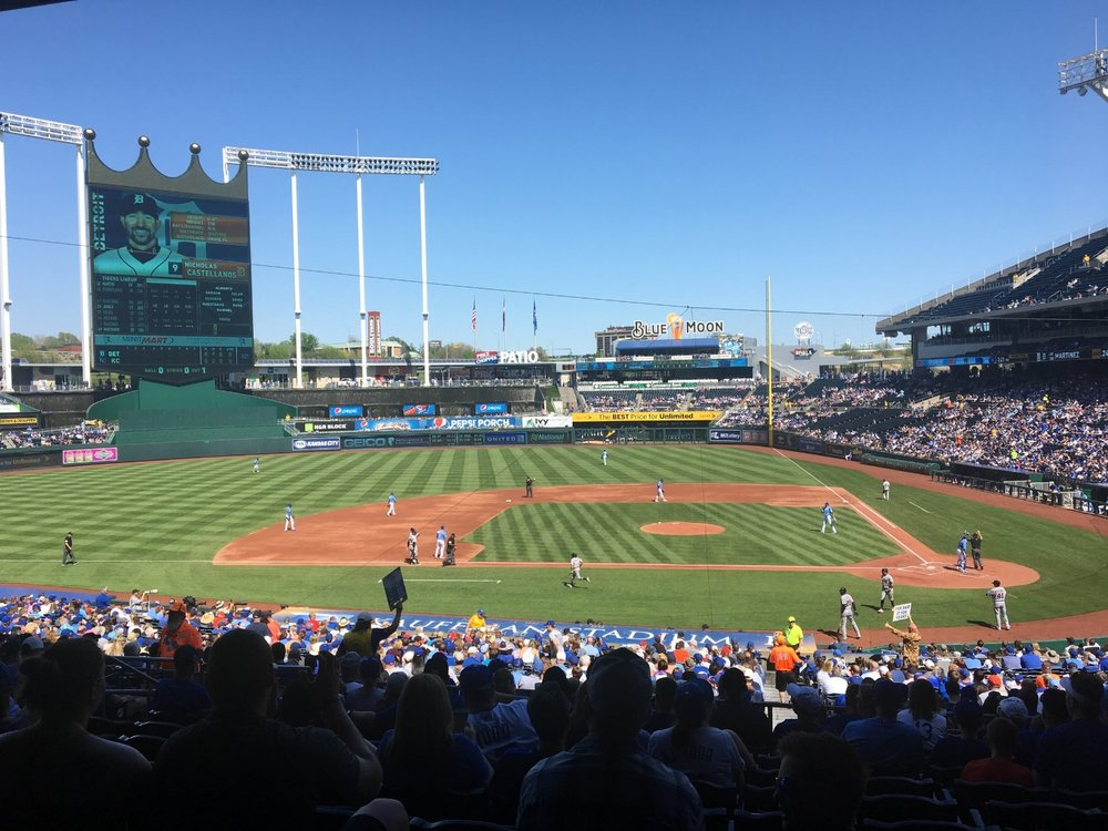ALWAYS GREAT TO SEE A GAME AT KAUFFMAN STADIUM
