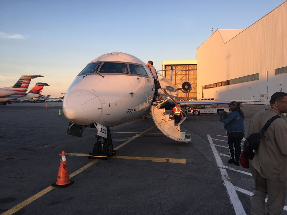 BOARDING OUR LITTLE CRJ-900 AT YYZ