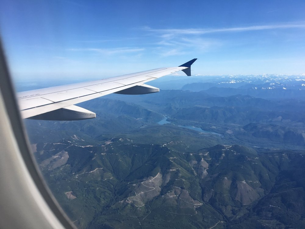 FLYING THROUGH THE PACIFIC NORTHWEST