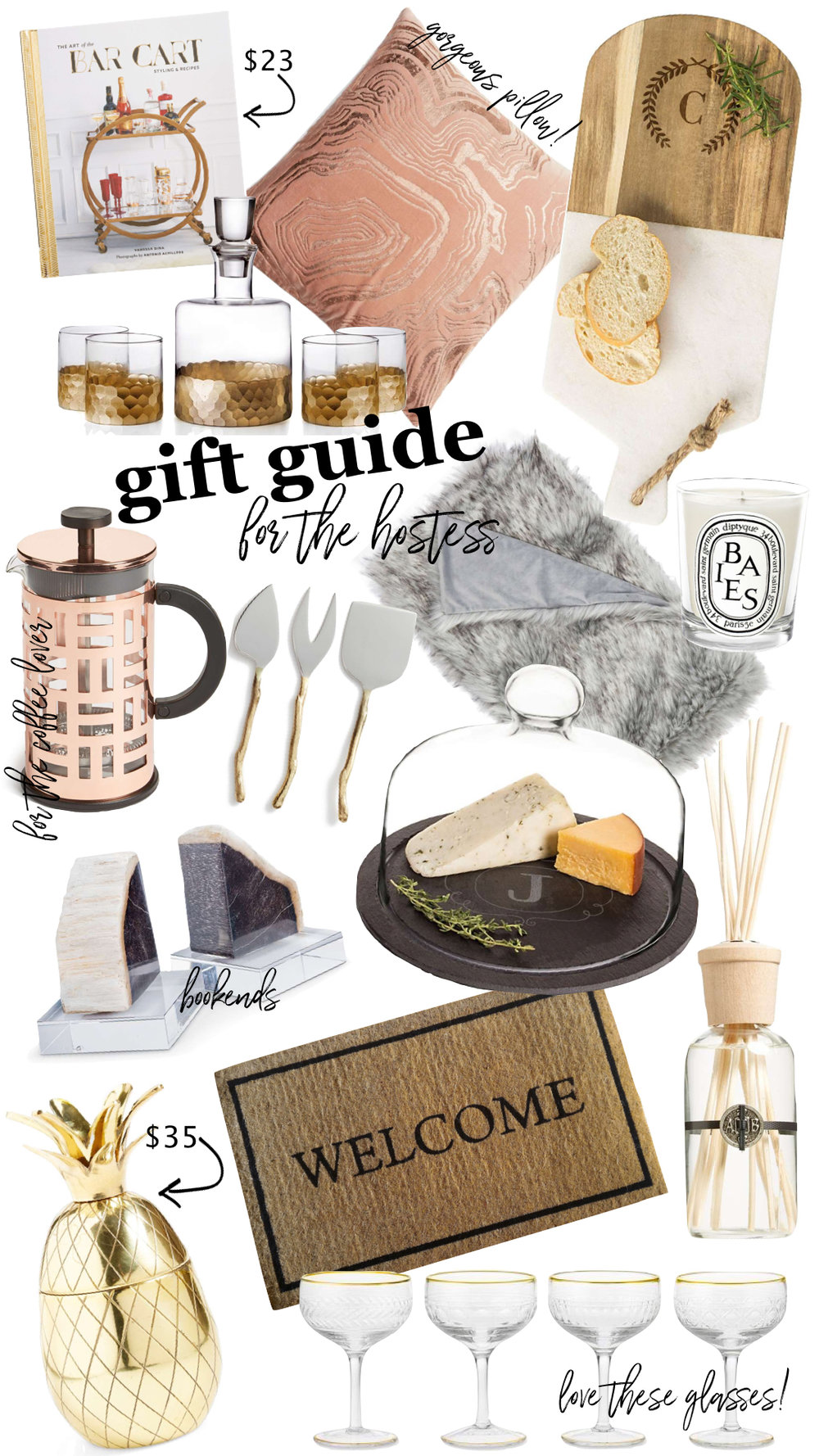 GIFT GUIDE FOR THE HOSTESS  -